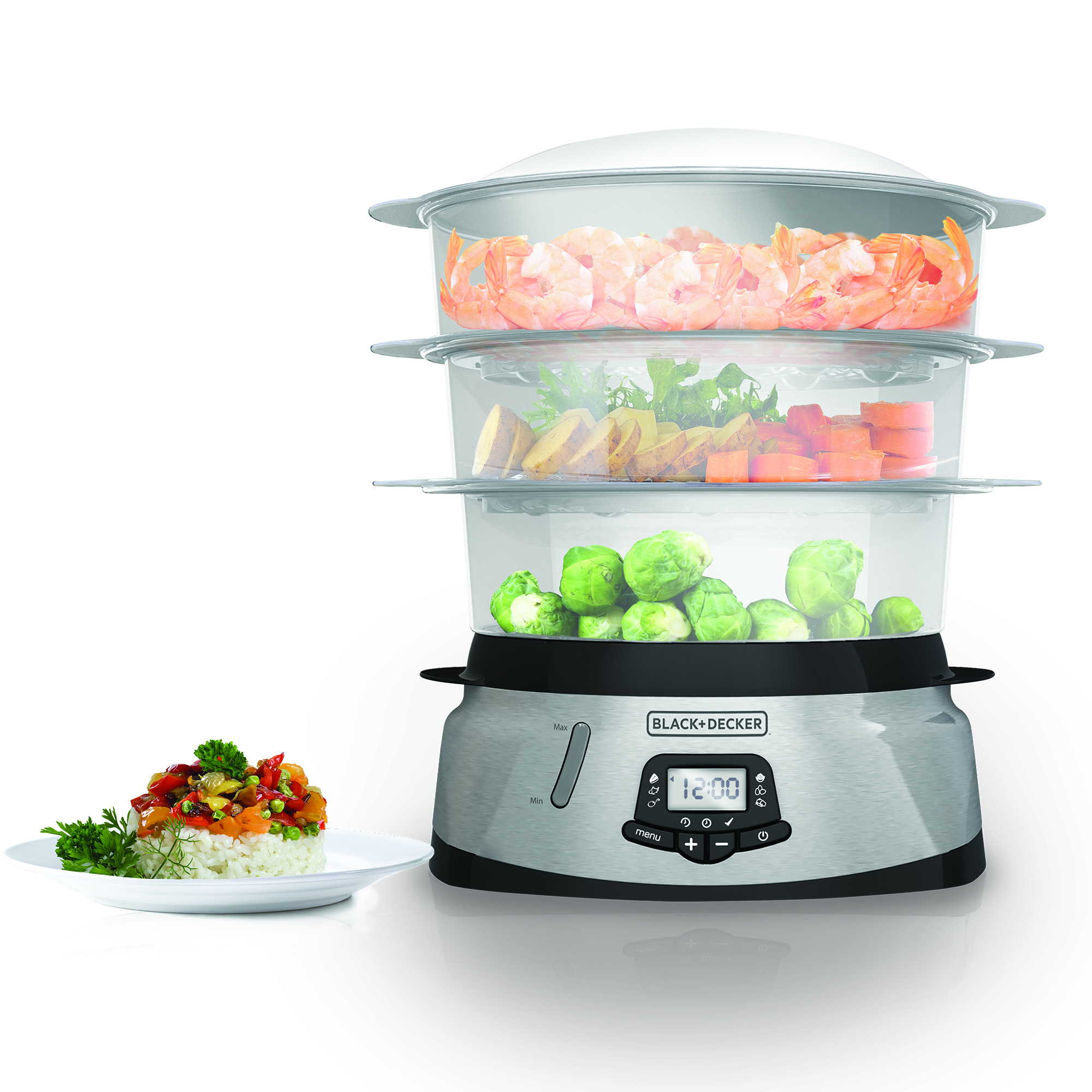 3 Tier Digital Programmable Steamer Black And Decker