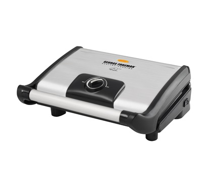 The Vari-Temp Grill GR0080S: Enjoy grilling inside your kitchen with this large silver grill by George Foreman