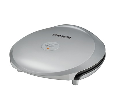 The Grand Champ Extra-Value Grill GR36P: Enjoy indoor grilling perfection with this large silver grill by George Foreman