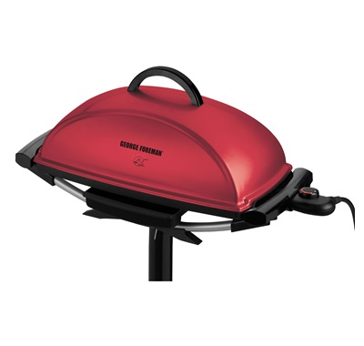 The 13 serving indoor/outdoor grill GGR201RCDR: Enjoy indoor or outdoor grilling with ttis jumbo red grill from George Foreman Cooking