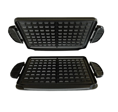 The Interchangeable Waffle Plate Set GFP84WP: Turn your Evolve Grill, G5 Grill, or G4 Grill into a waffle grill with these waffle grill plates from George Foreman