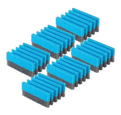 The 6 Pack grill cleaning sponges KGSFP3: Custom grill cleaning sponges designed for cleaning a grill from George Foreman