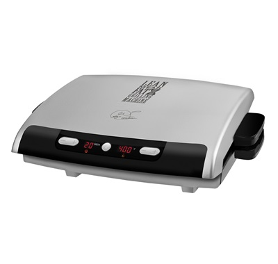 The precision Grill GRP99: Enjoy delicious grilling inside with this large silver kitchen grill from George Foreman