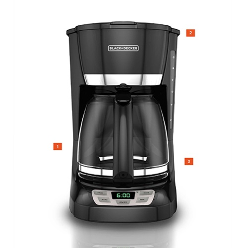 12-Cup Programmable Coffeemaker Black and Decker