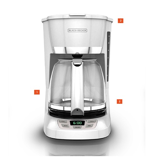 Black And Decker Coffee Maker Timer Instructions : 12-Cup Programmable Coffeemaker Black and Decker