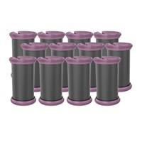 Set of 12 Large Rollers for the H9100 Purple Remington Thermaluxe Hair Setter