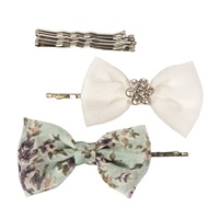 Fashion Bow Bobby Pins with Painted Bobby Pins