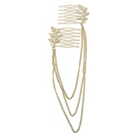 Gold Chain Clip Headwrap 1-Count