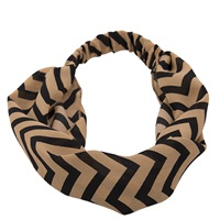 Tan Chevron Headwrap