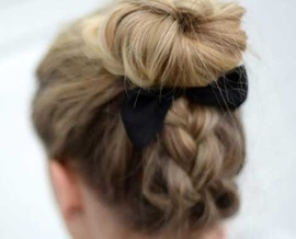 remington braided top knot tutorial blog post feature image