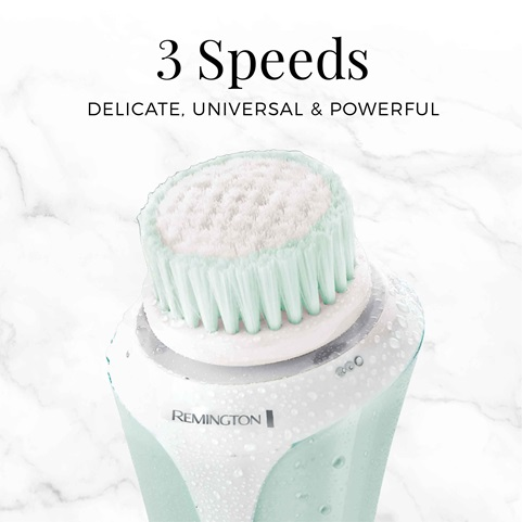remington reveal facial cleansing brush with 3 speeds fc1000