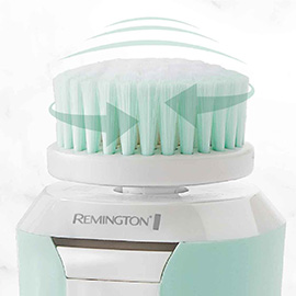remington reveal compact facial cleansing brush with dual power motion fc500