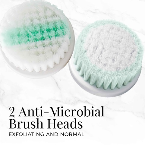 remington reveal compact facial cleansing brush with 2 anti microbial brush heads fc500