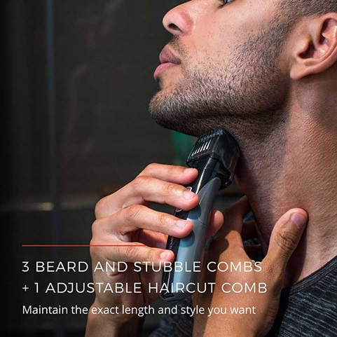 3 Beard and Stubble Combs, and 1 Adjustable Haircut Comb | Maintain the exact length and style you want
