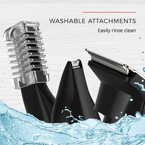 Washable Attachments - Easily rinse clean