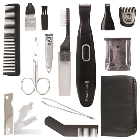 remington tlg110 15 piece travel grooming kit