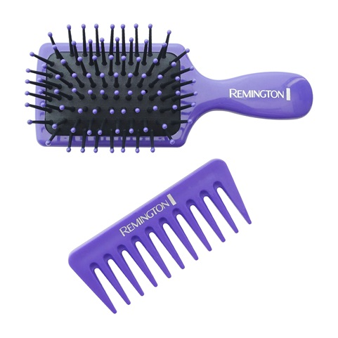 remington b60gma 2 count mini paddle brush and comb
