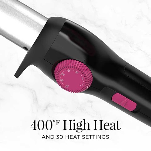 400 degree high heat and 30 heat settings