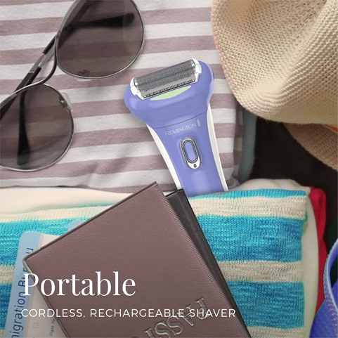 remington smooth glide rechargeable shaver portable wdf5030