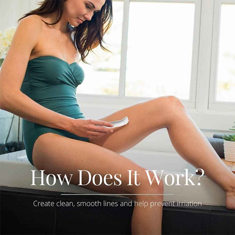 woman shaving legs with WPG4050