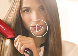 Red Silk Ceramic Flat Iron Video Thumbnail