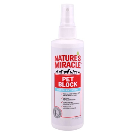 pet block repellent spray for dogs nature 39 s miracle. Black Bedroom Furniture Sets. Home Design Ideas
