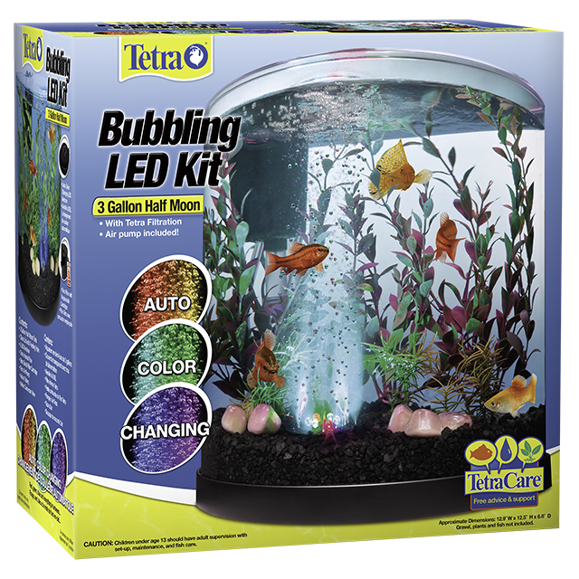 Bubbling LED Kit 3 Gallon Halfmoon & Aquarium Kits | Tetra®