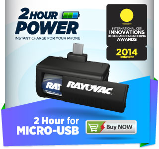 2 Hour Power; 2 Hour for MICRO-USB