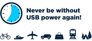Never be without USB power again!