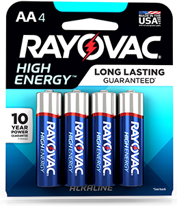 RAYOVAC® high energy batteries