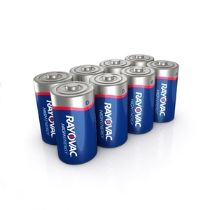 Rayovac High Energy C 8-Pack Alkaline Batteries