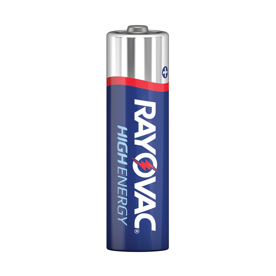 815-8J Rayovac High Energy Alkaline AA Battery 4 Pack