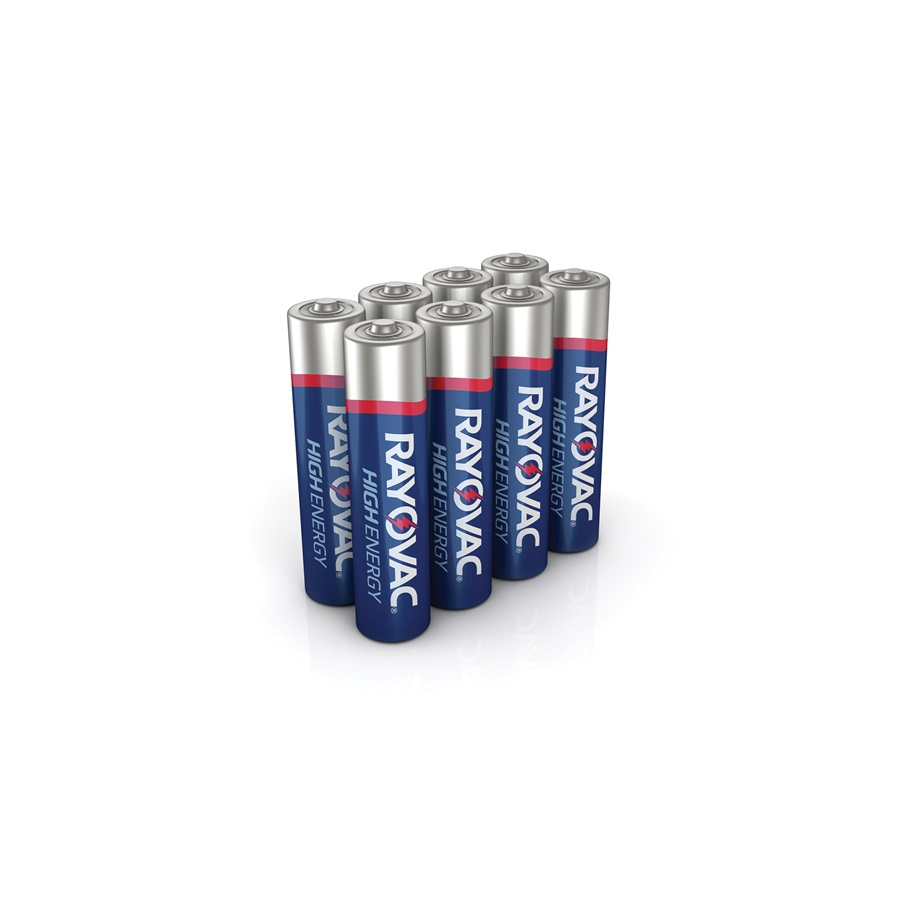 Rayovac High Energy AAA 8 Pack