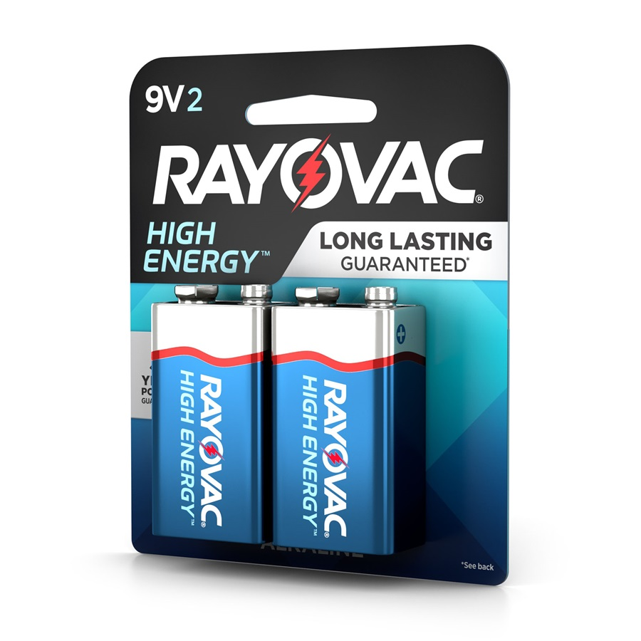 9V 2-Pack HIGH ENERGY™ Alkaline Batteries | Rayovac ®