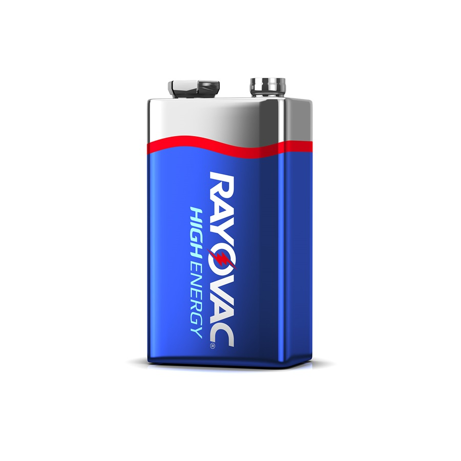 Rayovac High Energy 9V 4 Pack of Batteries