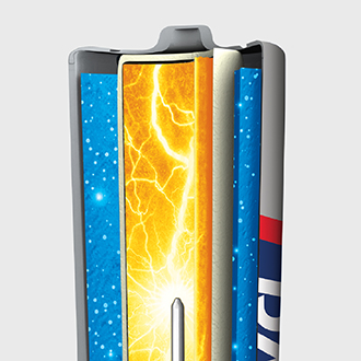 RAYOVAC® high energy is long lasting