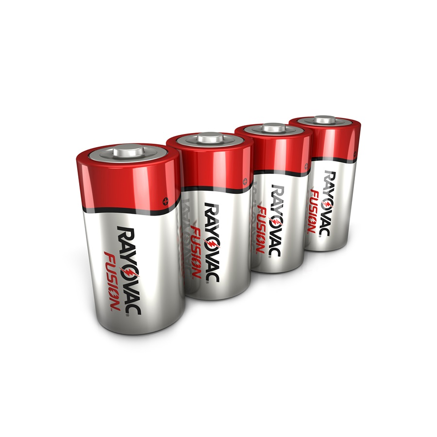 RAYOVAC® fusion™ alkaline d size batteries