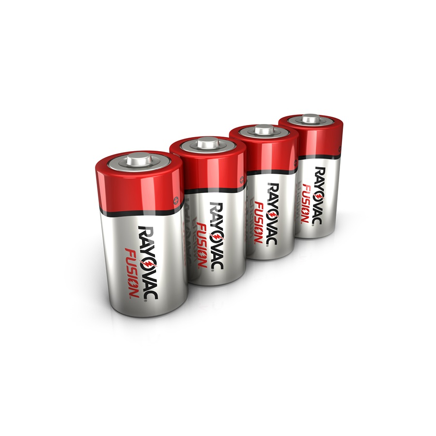 RAYOVAC® fusion™ alkaline c size batteries 4 pack