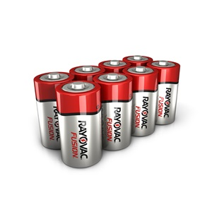 RAYOVAC® fusion™ alkaline c size batteries 8 pack