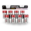 RAYOVAC® Fusion alkaline batteries C 8 Pack