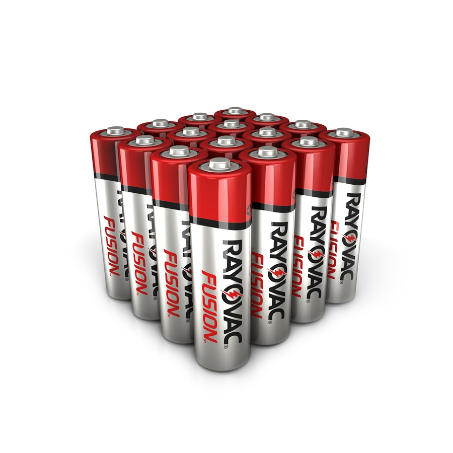 RAYOVAC® fusion™ alkaline aa size batteries 16 pack