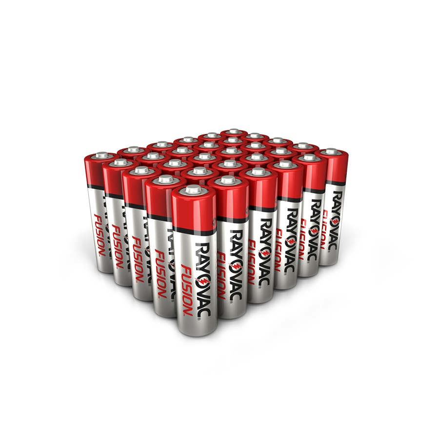 RAYOVAC® fusion™ alkaline aa size batteries 30 pack