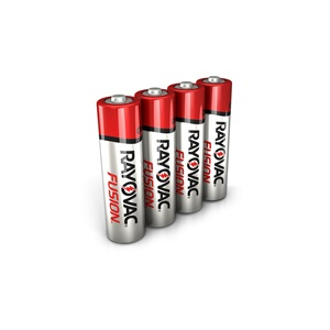 RAYOVAC® fusion™ alkaline aa size batteries 4 pack