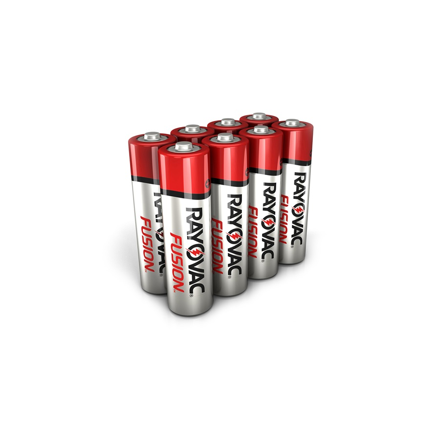 RAYOVAC® fusion™ alkaline aa size batteries 8 pack