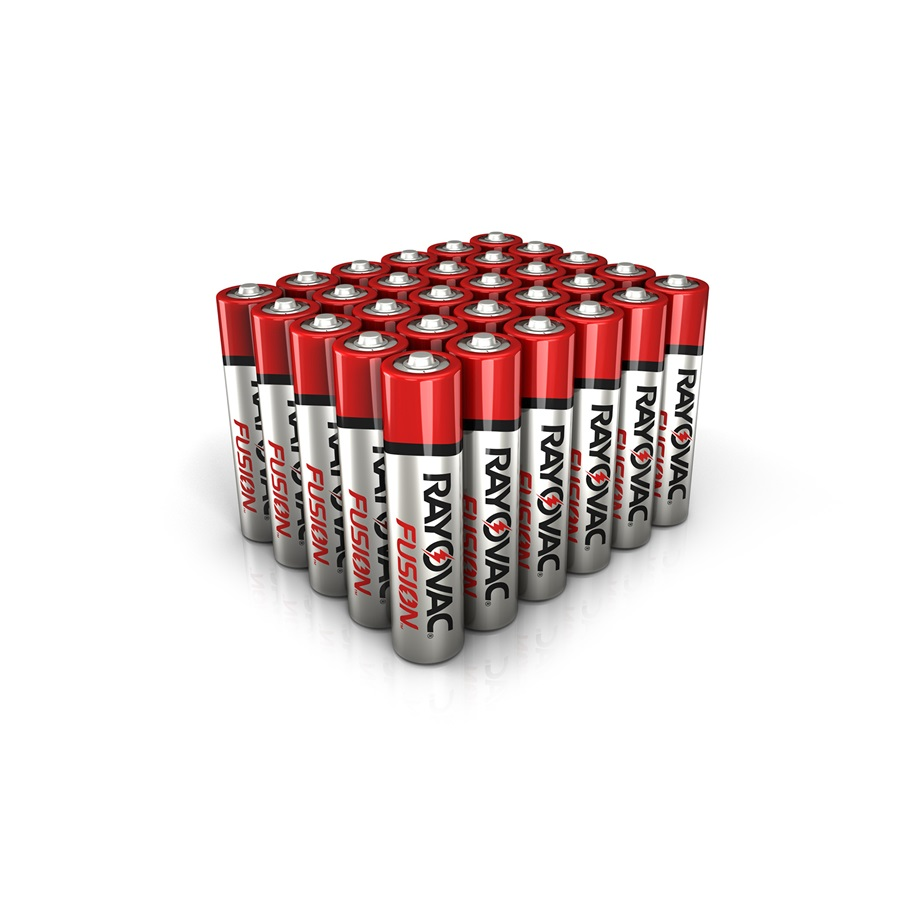 RAYOVAC® fusion™ alkaline aaa size batteries 30 pack