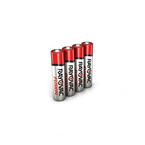 RAYOVAC® fusion™ alkaline aaa size batteries 4 pack