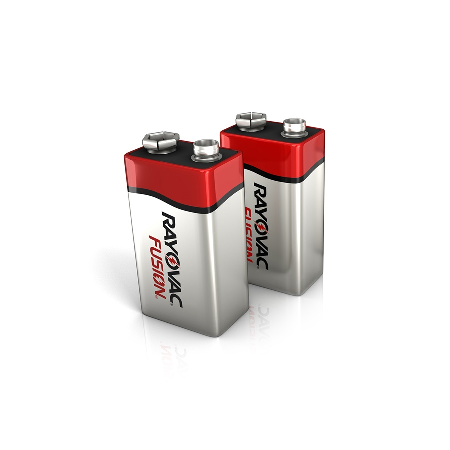 Fusion 9v 2 Pack Alkaline Batteries Amp Rayovac