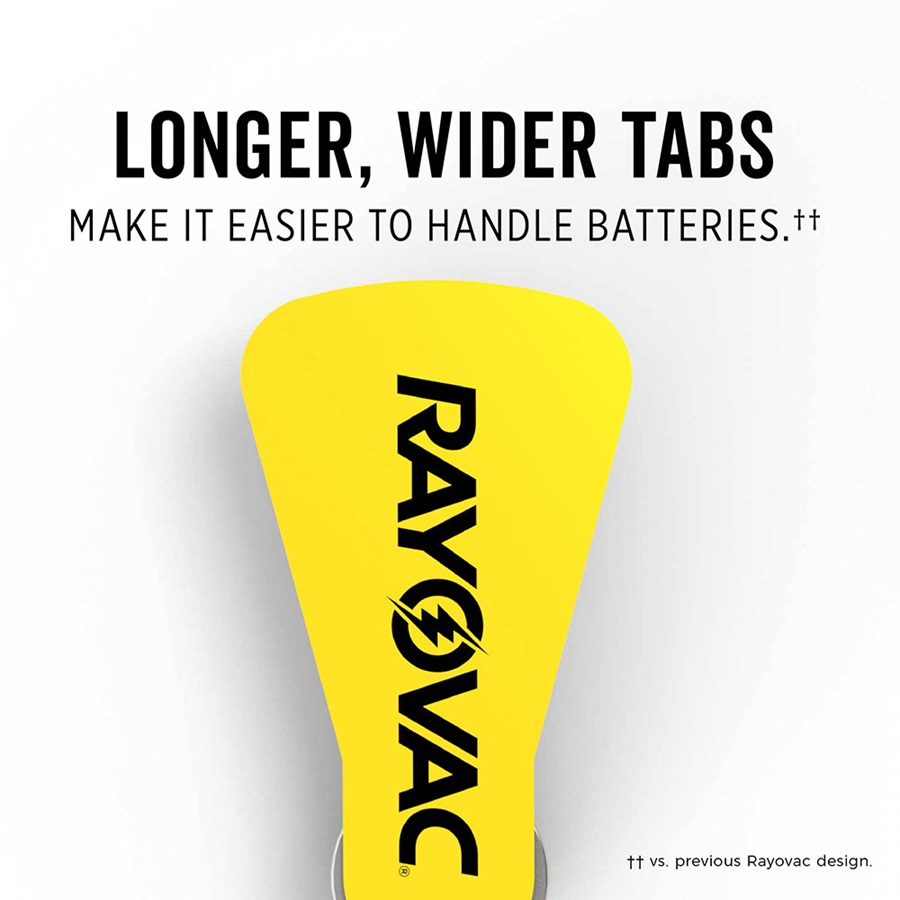 longer wider tabs make it easier to handle batteries**