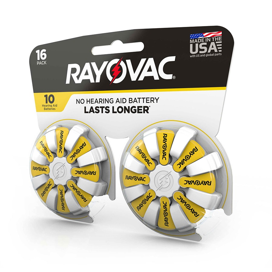 Rayovac Hearing Aid Batteries Size 10 16 Pack