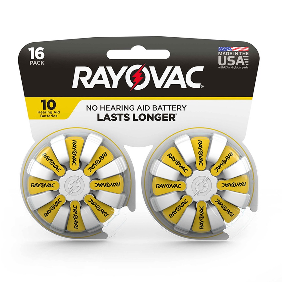 Rayovac Hearing Aid Batteries Size 10 16 Packs